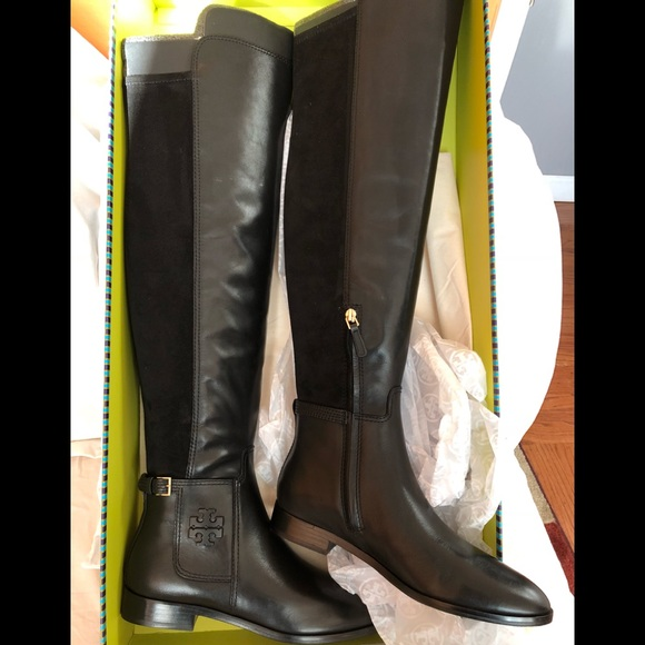 63803a8e6 Tory Burch Shoes   Wyatt Over The Knee Leather Boots New   Poshmark